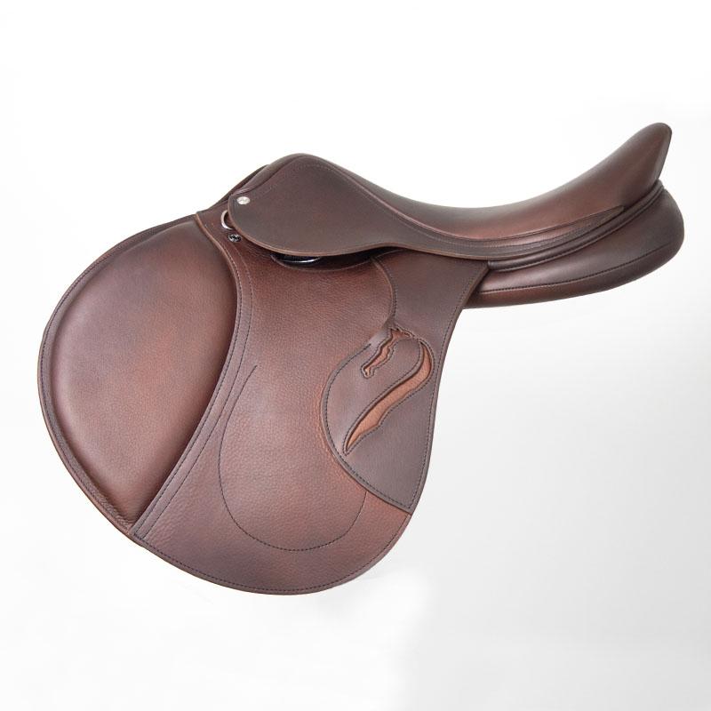 Selle antares en cuir sur mesure Confort selle obstacle cso selle de cheval et poney personnalisable