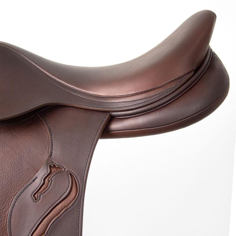 Selle antares en cuir sur mesure Confort selle obstacle cso selle de cheval et poney troussequin