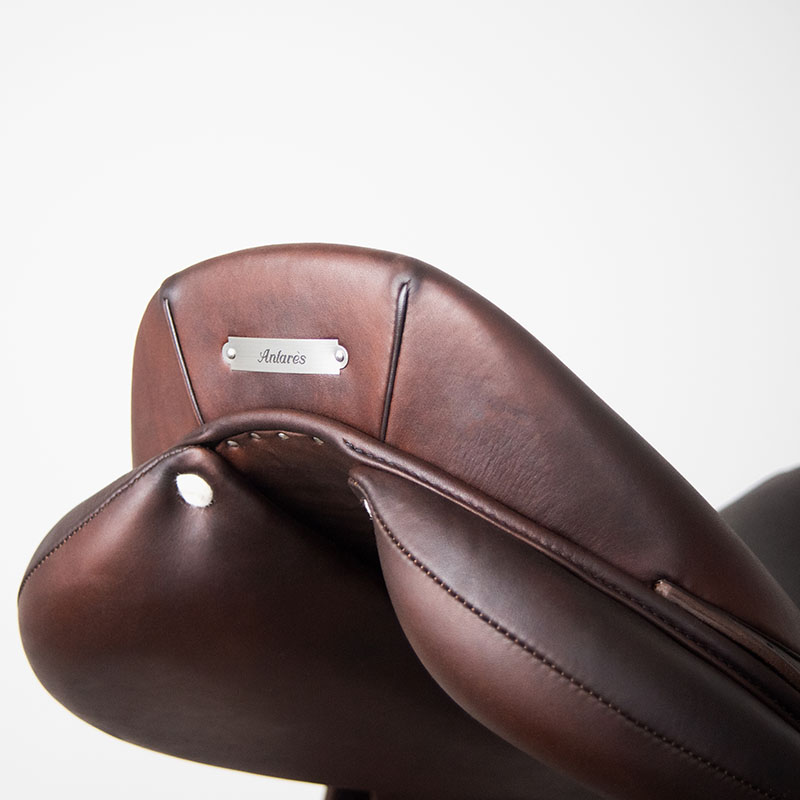 Selle antares en cuir sur mesure Confort selle obstacle cso selle de cheval et poney panneaux matelassures
