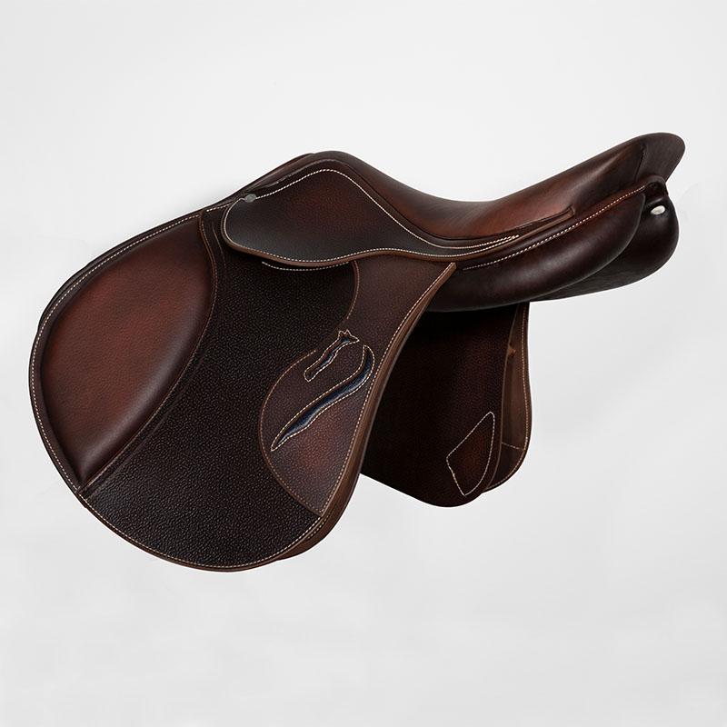 Selle antares en cuir sur mesure Evolution selle obstacle cso selle de cheval et poney personnalisable face arrière