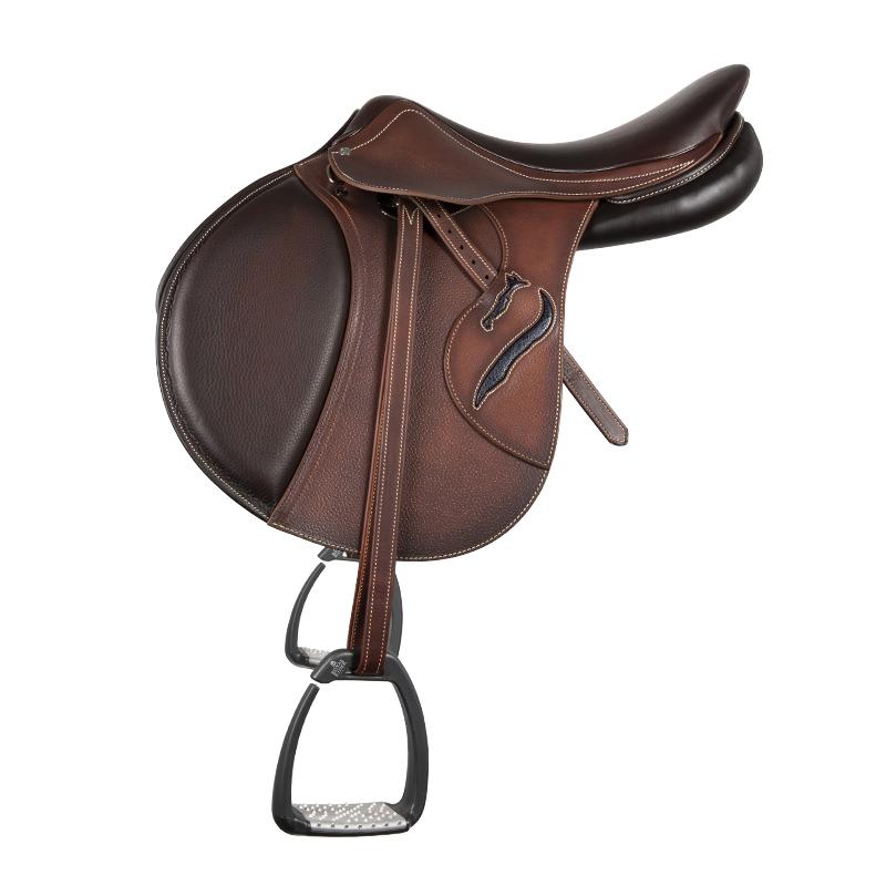 Selle antares en cuir sur mesure Connexion selle obstacle cso selle de cheval et poney personnalisable troussequin