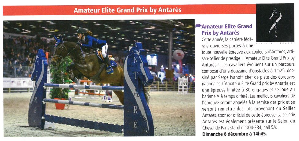 amateur elite grand prix by antar s au salon du cheval antar s sellier. Black Bedroom Furniture Sets. Home Design Ideas