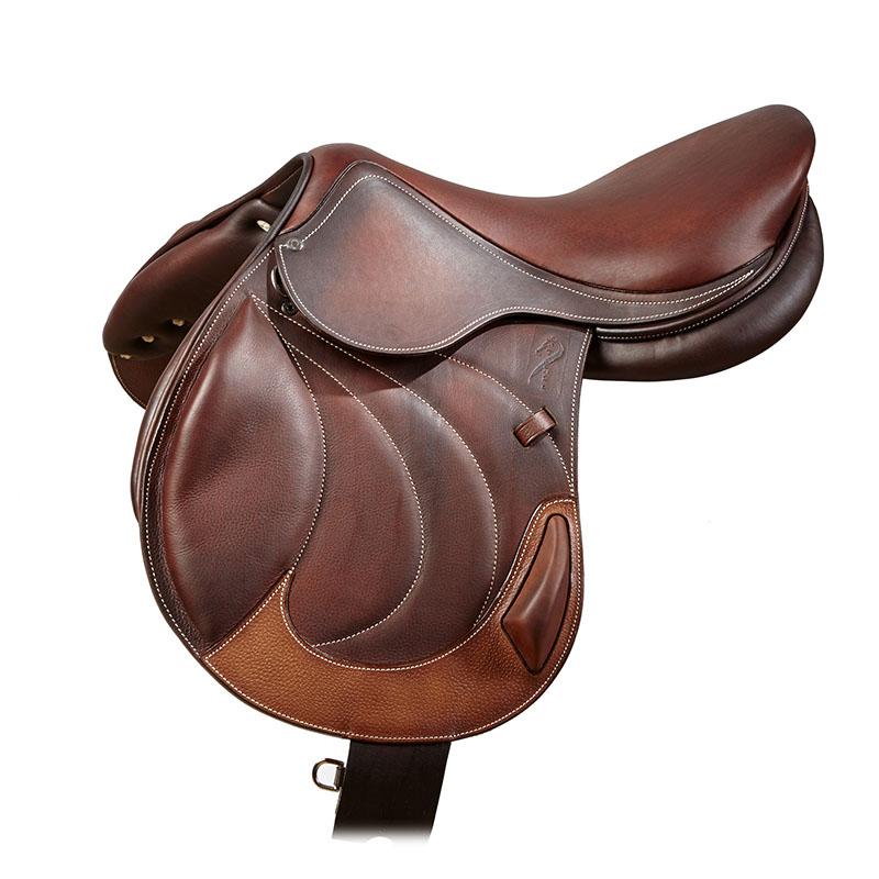 Selle antares en cuir sur mesure selle monoquartier selle obstacle cross selle de cheval et poney personnalisable