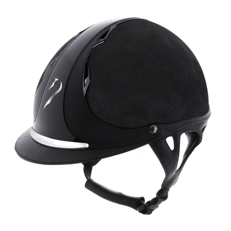 antares sellier casque cross dressage obstacle cso equitation enfant classic jugulaire cuir bombe equitation