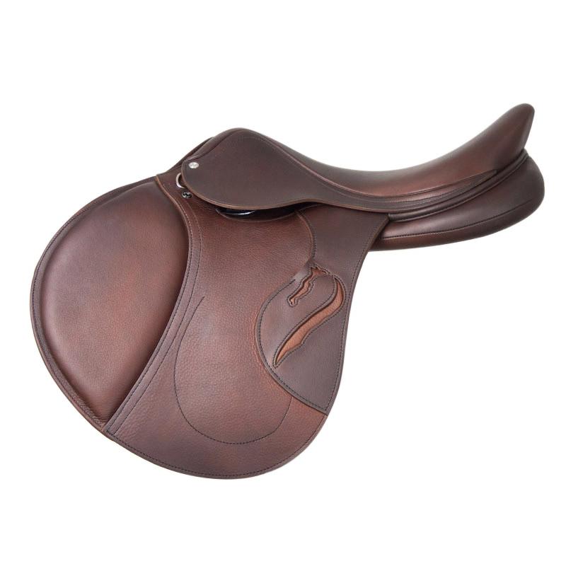 Selle antares en cuir sur mesure selle obstacle cso selle de cheval et poney personnalisable confort