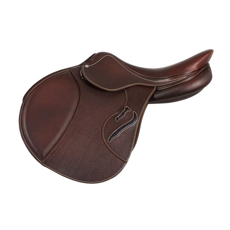 Selle antares en cuir sur mesure selle obstacle cso selle de cheval et poney personnalisable connexion