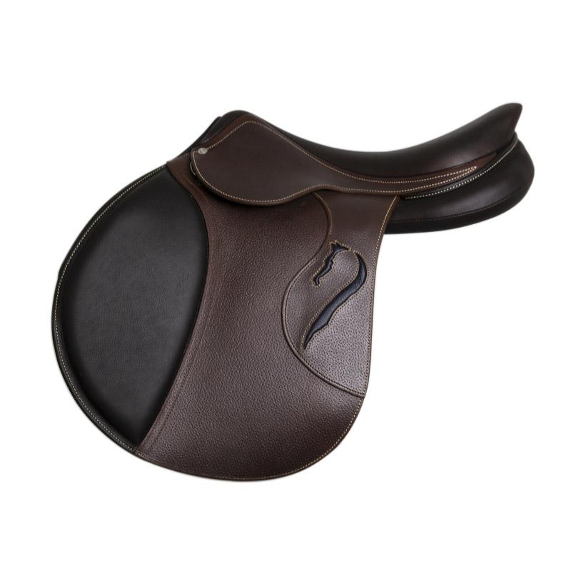 Selle antares en cuir sur mesure selle obstacle cso selle de cheval et poney personnalisable contact
