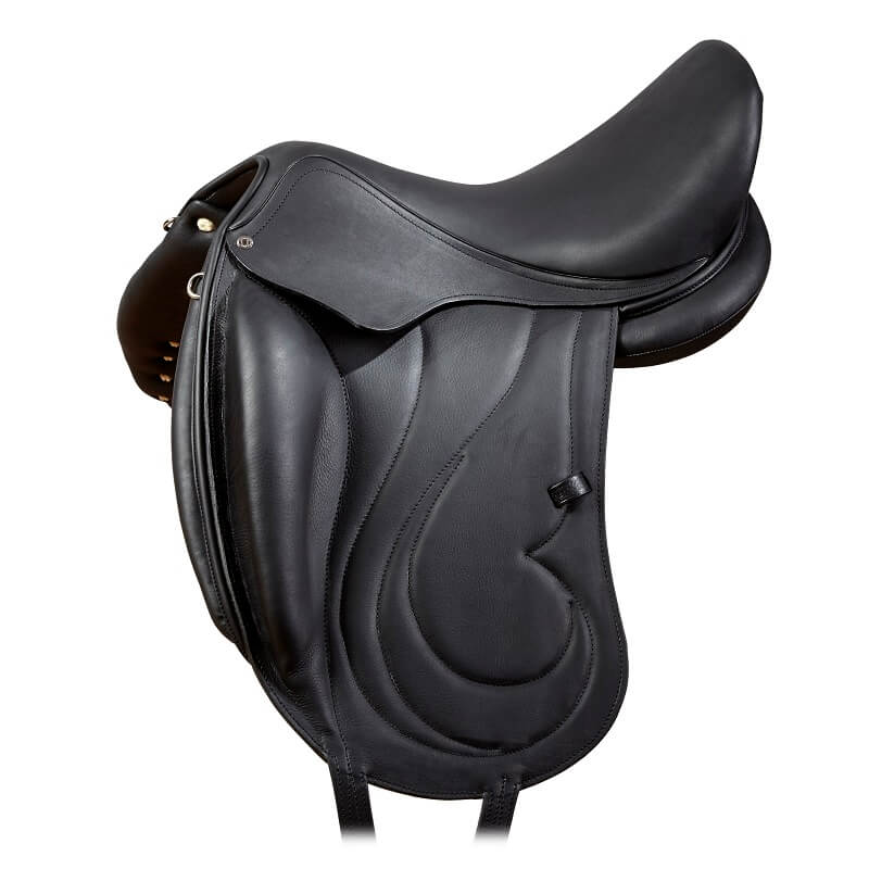 Selle equitation dressage cuir monoquartier antares Cadence