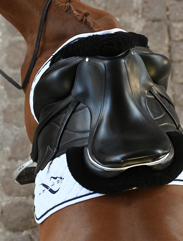 selle cheval equitation selle de dressage antares sellier monoquartier sur mesure en cuir marque haut de gamme version mobile